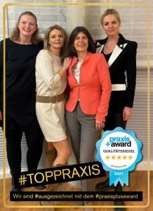 Team Praxis für Dermatologie Dr. Besing mit PraxisPlusAward 2021