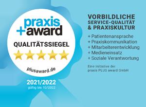 Praxis+Award Siegel 2021/2022